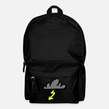 Rain Storm cloud with yellow lightning / thunderstorm - Backpack