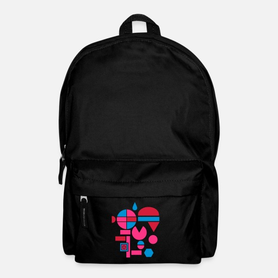 Square Bags & Backpacks - Various geometric shapes - Backpack black