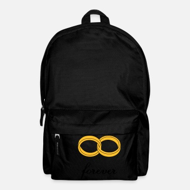 Marriage Infinity Shape wedding rings forever - Backpack