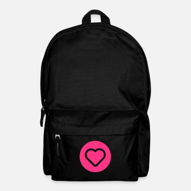 Valentines Day coeur rond - Backpack
