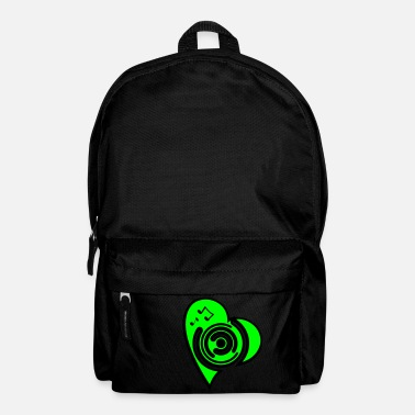 vinyl_heart1 - Backpack