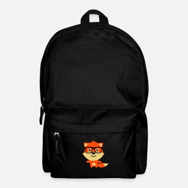 Mascota Cute & Funny Hipster Baby fox with nerd glasses - Mochila