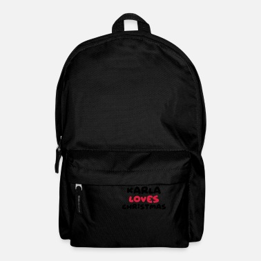 Karla Love karla loves christmas xmas name - Backpack