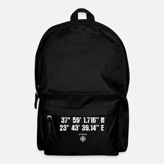 Birthday Bags & Backpacks - Athens Geocacher coordinates Gift Europe - Backpack black