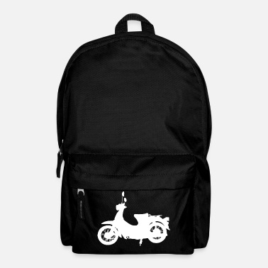 Moped Silhouette retro moped scooter moped - Backpack