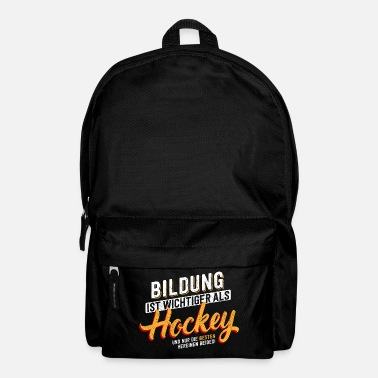 Education Culture Education is important - hockey - Backpack