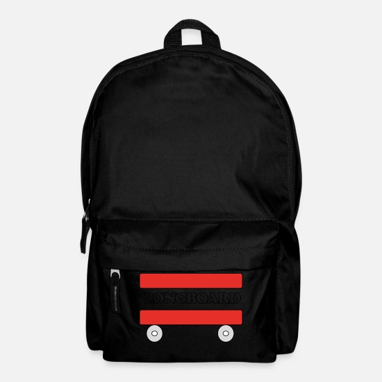 Gift Idea Bags & Backpacks - Longboard with wheels - Backpack black