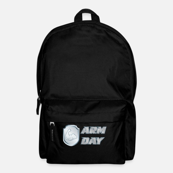 Fitness Bags & Backpacks - shirt ARM day 01 - Backpack black
