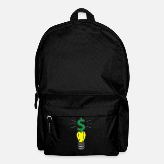 Light Bulb Bags & Backpacks - The millionaire idea - the millionaires idea - Backpack black