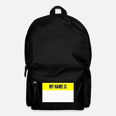 Name My name is My name is name tag - Backpack