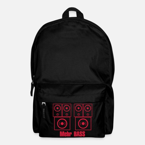 Guitar Bags & Backpacks - MORE BASS, loud, music, speakers, subwoofer - Backpack black