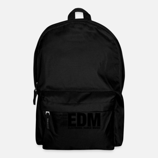 Festival Bags & Backpacks - ELECTRO,DUBSTEP,EDM,MUSIC,DANCE,ELECTRONIC,MINIMAL - Backpack black