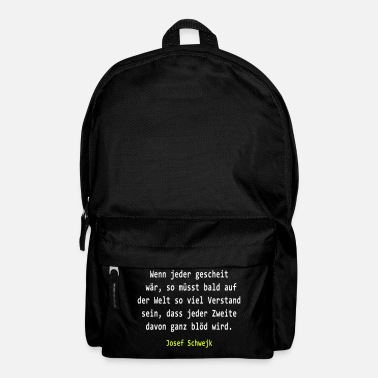 Josef Josef Svejk - If everyone would clever - Backpack