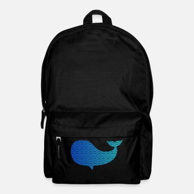 Wale wale from waves and sea - Backpack