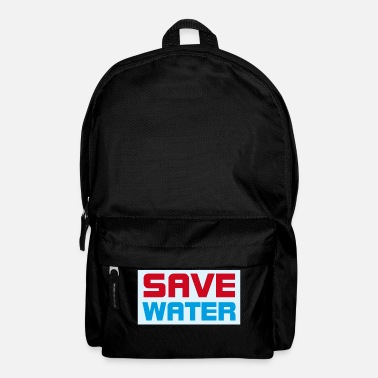 Save Save Water- save water, save the world - Backpack