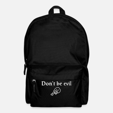 Nerd don't be evil ( search engine slogan) - Backpack
