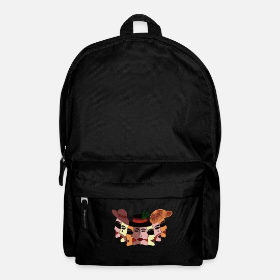 Blind Bags & Backpacks - Hidden behind the mask Faces Portrait Funny - Backpack black