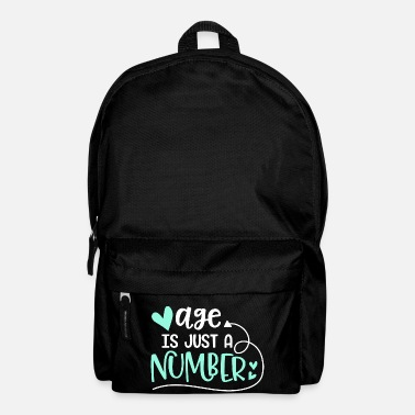Age Age Just Number Gift Age Number - Backpack