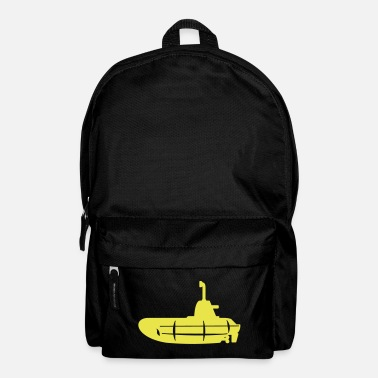 Giallo 1 colour - Gelbes U-Boot schwarz - Yellow Submarine black - Zaino