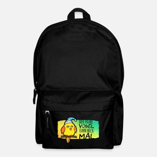 "Late Risers Bags & Backpacks - I dont'care on the ""early bird - Backpack black"