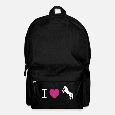 Pony I love Ponies wild horse - this design lets you change all colours - Mochila