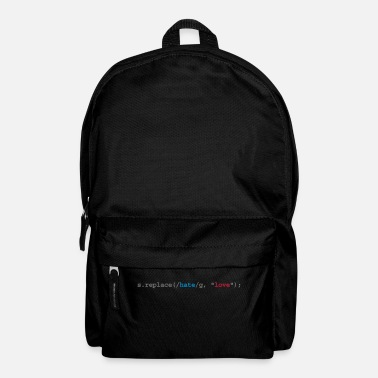 Nerd replace hate with love - Rucksack