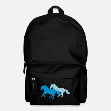 Pony Two galloping horses - you can change all colours - Mochila
