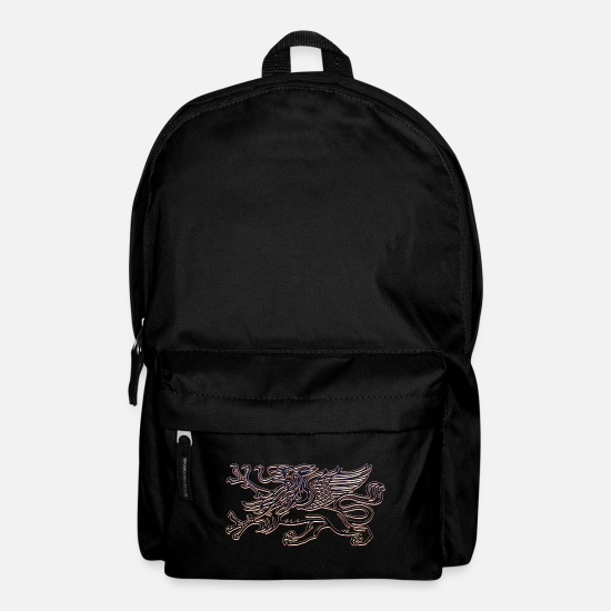 Distress Bags & Backpacks - Griffin in 3D - Backpack black