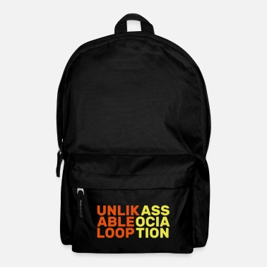 Association unlikable loop association anglais cadeau slogan - Sac à dos