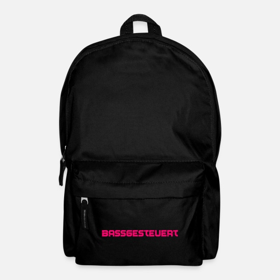 Birthday Bags & Backpacks - BASS controlled music motif open air party outfit - Backpack black
