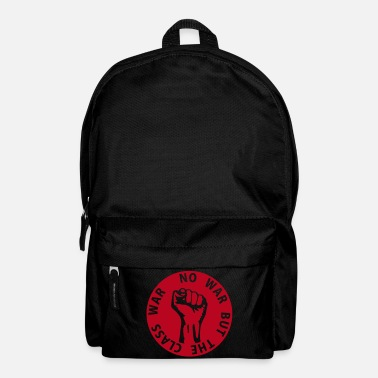 Riqueza 1 color - no war but the class war - against capitalism working class war revolution - Mochila