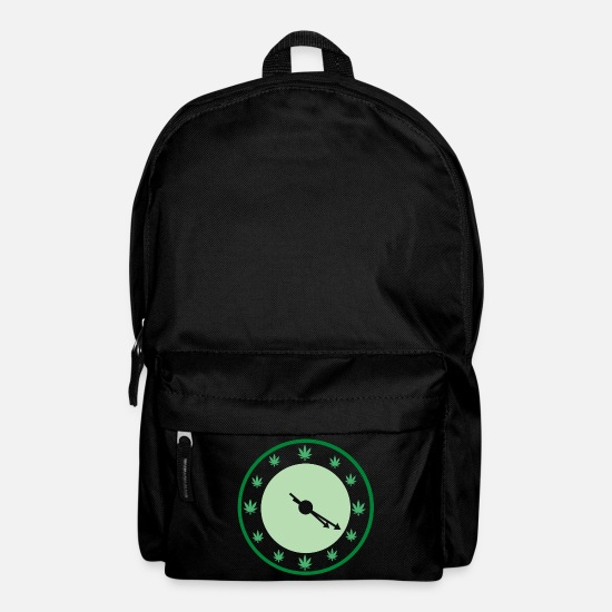 Weed Bags & Backpacks - Marijuana 420 Grass Weed Hemp THC Funny Gift - Backpack black