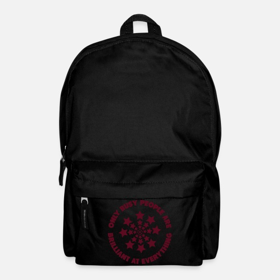 Gift Idea Bags & Backpacks - Busy People Brilliant star gift logo icon - Backpack black