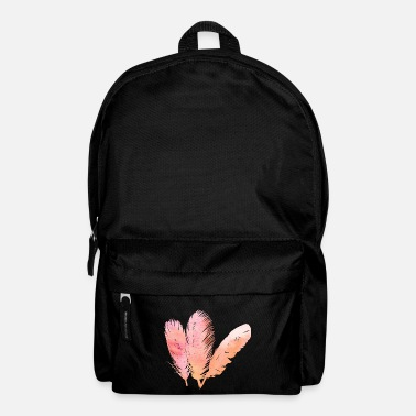 Feather Feather feathers feathers gradient - Backpack
