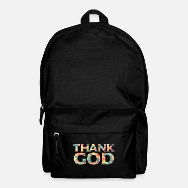 God thank god god faith - Backpack