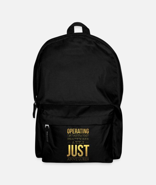 Operating Department Practice Bags & Backpacks - Just above queen - Backpack black