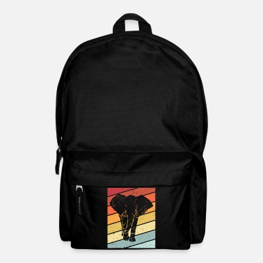 Tusk Elephant retro animal gift africa proboscis zoo - Backpack