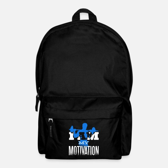 Bless You Bags & Backpacks - I am my motivation - motivation shirt for athletes - Backpack black