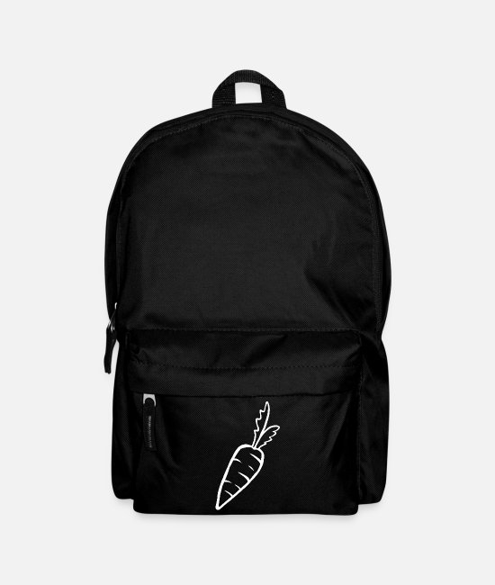 Bless You Bags & Backpacks - Carrot Carrot Root Vegetable Food Healthy Gift - Backpack black