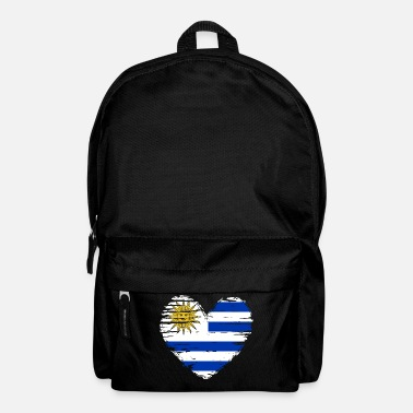Hearts Uruguay Heart Flag Flag Coat of Arms - Backpack