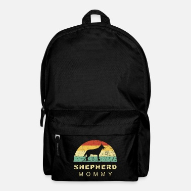 Long-haired Long-haired Herd Dog Grunge retro vintage german shepherd dog mom - Backpack