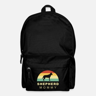Long-haired Long-haired Herd Dog Cool retro vintage german shepherd dog mom - Backpack