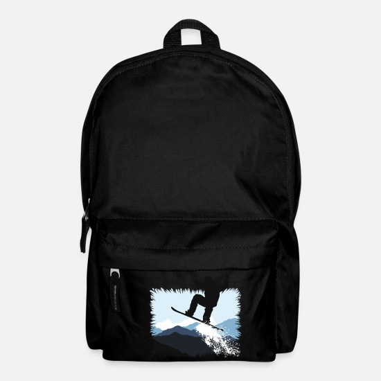 Winter Sports Bags & Backpacks - Snowboarder Action Jump - Backpack black