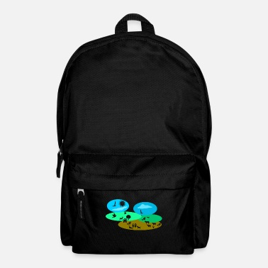 Landscape Landscape with animals - Backpack