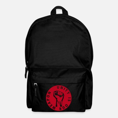 Riqueza 1 color - unity is our weapon - against capitalism working class war revolution - Mochila