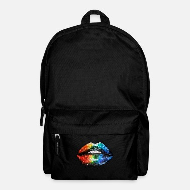 Rainbow Mosaic Mouth | Yolo Artwork - Backpack