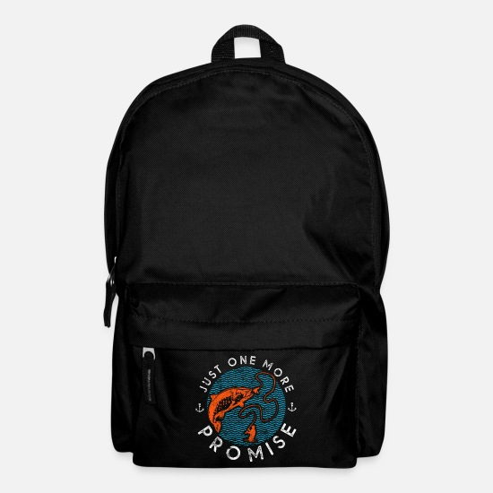 Sports Bags & Backpacks - Fisherman fishing saying - Backpack black