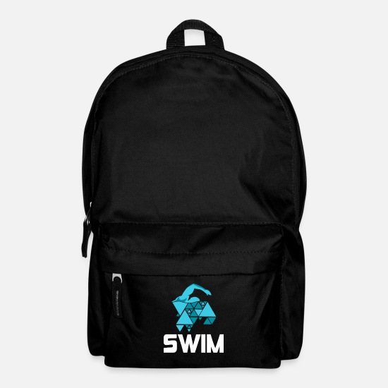 Swim Bags & Backpacks - Swim shirt swimming trunks bathing outdoor gift - Backpack black