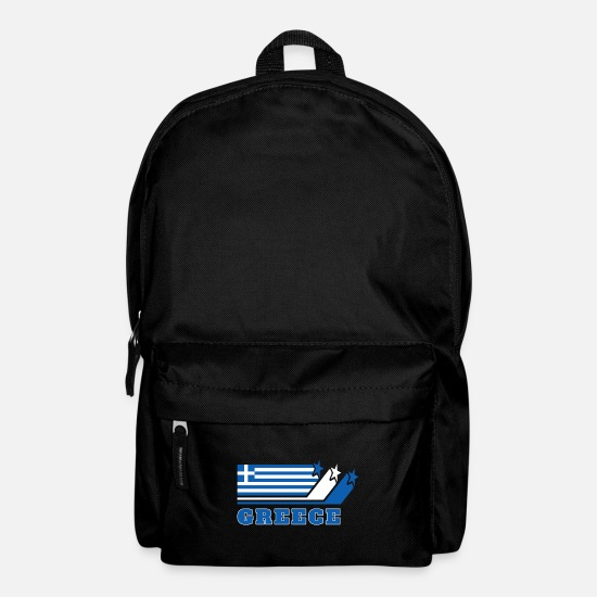 Greek Bags & Backpacks - Greece Flags Design / Gift Athens - Backpack black