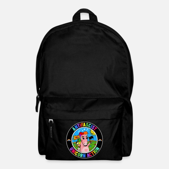 Antifascist Bags & Backpacks - Antifascist Unicorn Action - Backpack black